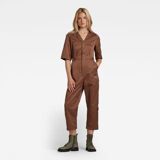 V-Neck Jumpsuit Short Sleeve - Slim Fit - Taillehoogte Hoog