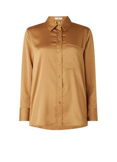 Santini blouse van satijn