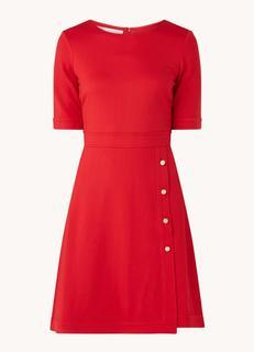 Anela mini jurk van jersey met knoopdetail