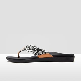 ortho-bounce woven slippers zwart/wit dames
