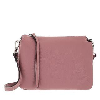 Crossbody bags - Triple Gusset Zipped Crossbody In Pabbled Leather in Quarz voor dames
