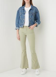 Raval high waist flared fit jeans met gerafelde zoom