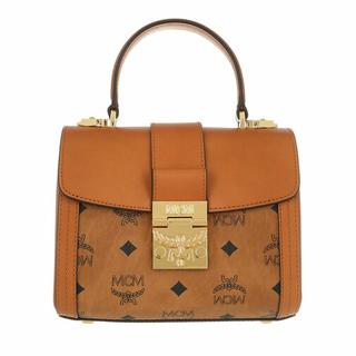 Satchels - Small Tracy Visetos Satchel Bag in cognac voor dames