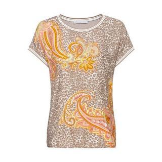 Shirt Julie trendy motievenmix van luipaard- en paisleyprint