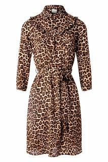 60s Dancing to Vinyls Dress in Leopard Brown