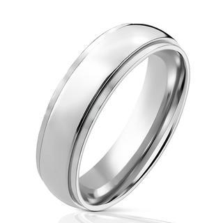 Ray - Zilveren dames en heren ring van titanium met afgeronde hoeken