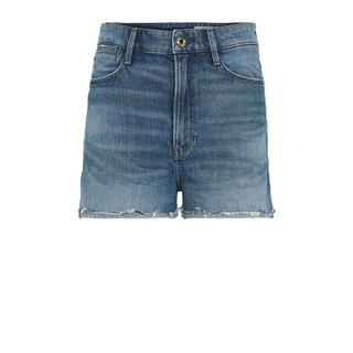 Tedie Ripped Edge Ultra High Shorts high waist jeans short faded riverblue