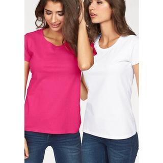shirt met ronde hals Lady Fit Valueweight (set, 2-delig, Set van 2)
