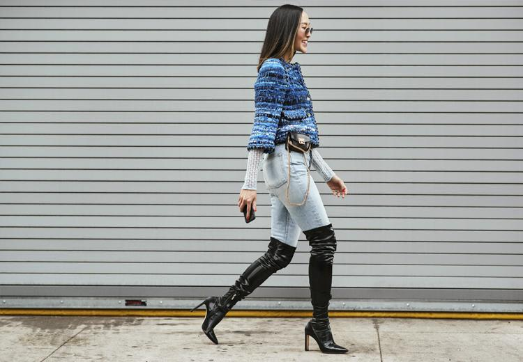 Trend gespot: broek in je laarzen