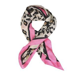 Sjaaltje met luipaardprint roze