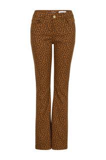 Dames Jeans 'Felize' flared bruin