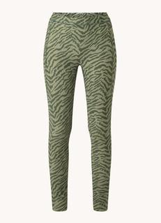 Rue Belen mid waist trainingslegging met zebraprint