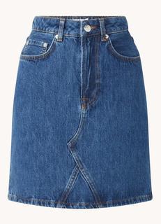 Mini spijkerrok met steekzakken