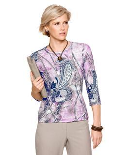 Shirt met moderne printmix