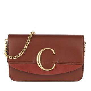 Cross Body Bags - C Clutch With Chain Sepia Brown in bruin voor dames