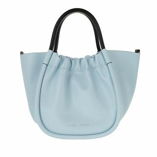 - Small Ruched Tote Smooth Leather in blauw voor dames