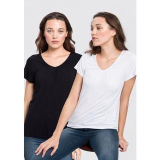 T-shirt Met lichte kapmouw (set, Set van 2)