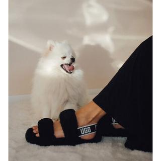 Oh Yeah Slide Sandalen voor Dames in Black