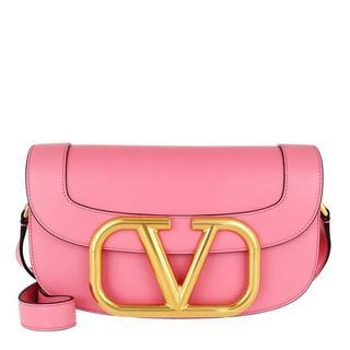 Crossbody bags - Supervee Crossbody Bag Leather in roze voor dames