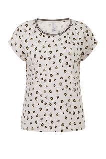 Dames T-Shirt print wit