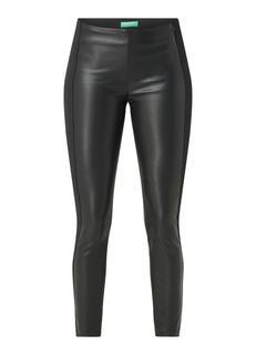 Mid waist skinny fit legging van imitatieleer