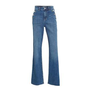 jeans met wijde pijp blauw