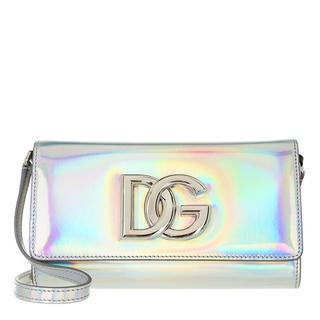 Clutches - Strobo Clutch Leather in silver voor dames
