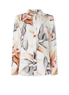 Leeta blouse met bladprint