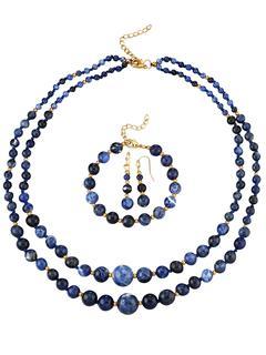 3-delige sieradenset van sodaliet Blauw