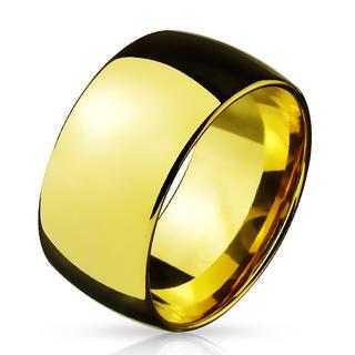 Broad - Brede glimmende gouden heren en dames ring