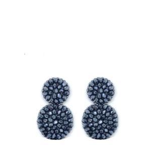 Small Silver Grey Earrings