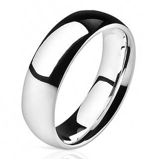 Florid - Glimmende zilveren dames en heren ring van titanium