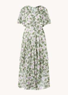 Rochelle maxi jurk met cut-out detail en lurex