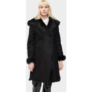 Vanesa Toscana Shearling Coat voor Dames in Black