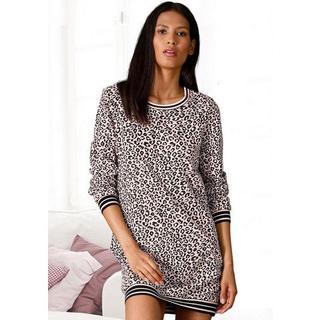 Nachthemd met luipaardprint all-over