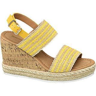 Gele sandalette jute