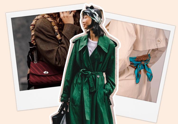 8 manieren om een zijden sjaal te dragen