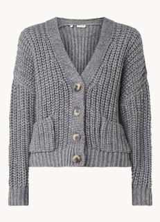 Emma grofgebreid vest in alpacablend