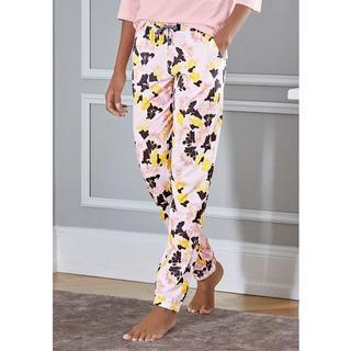 Pyjamabroek motief all-over met velvetband