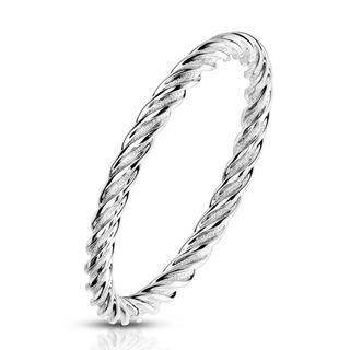 Herit - Smalle modieuze zilveren dames ring