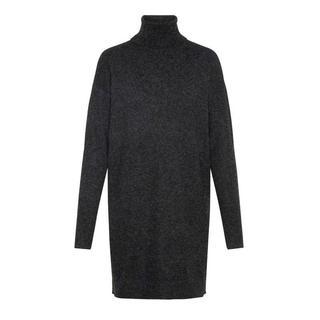 gemêleerde gebreide jurk Brilliant van gerecycled polyester zwart