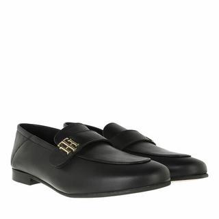 Loafers & ballerina schoenen - TH Essentials Leather Loafer in zwart voor dames