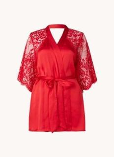 Jennifer kimono van satijn met rugdecolleté