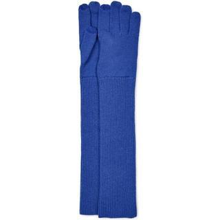 Long Cuff Knit Handschoenen voor Dames in Electric Blue, maat OS   Breien