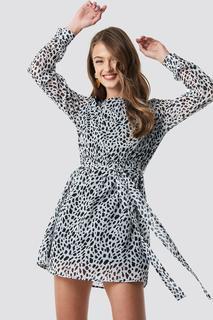 Dalmation Spots Print Dress