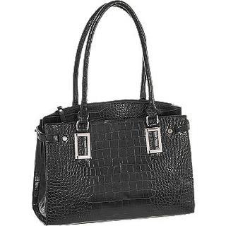 Zwarte handtas crocoprint