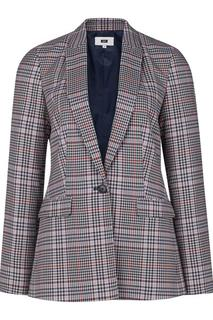 Dames regular fit geruite blazer