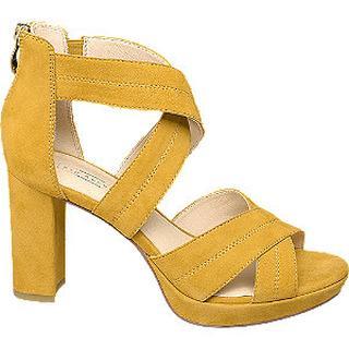 Gele leren sandalette