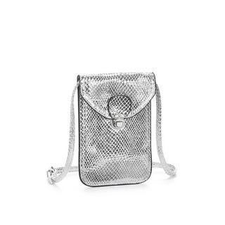 Schoudertas Mini-bag, tasje voor de mobiele telefoon, kan omgehangen worden, in coole metallic-look