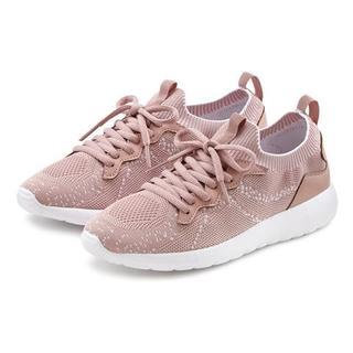 Sneakers in modieuze mesh-look en met prettige binnenzool